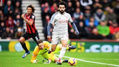 هاتريك محمد صلاح في الدوري الانجليزي الممتاز